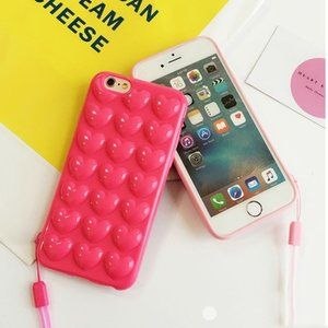 BOGO 50%off - iPhone 7/8/7+/8+/XS 3D Heart Case